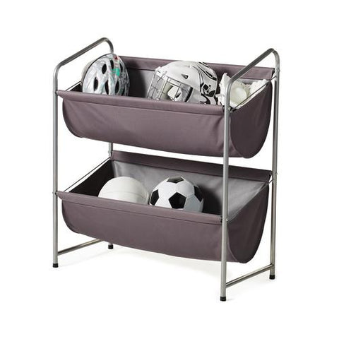 Multipurpose 2-Tier Deep Fabric Bin Utility Shelf - Style 3402