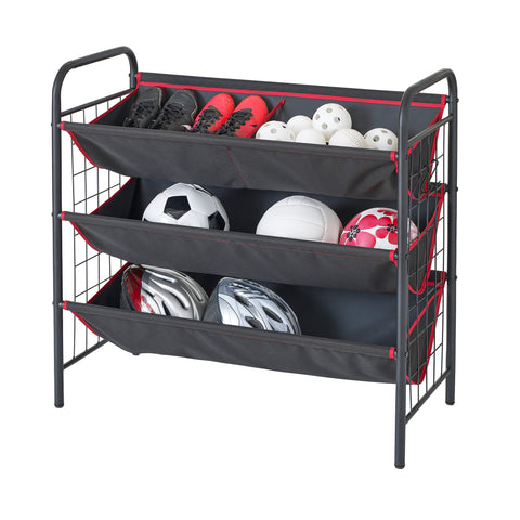 Garage and Sport 3-Tier Fabric Bin Utility Storage Organizer – Style 3405