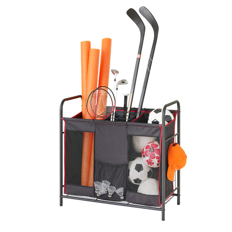 Garage and Sport Multipurpose 3-Compartment Fabric Sorter and Utility Storage Organizer - Style 3406