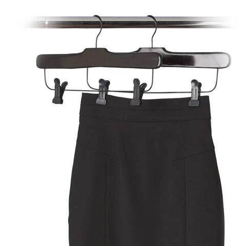 2 Pack Wood Pant and Skirt Hanger with Clips - Style 4070