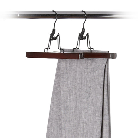 2 Pack Wood Clamp Pant Hangers - Style 4075