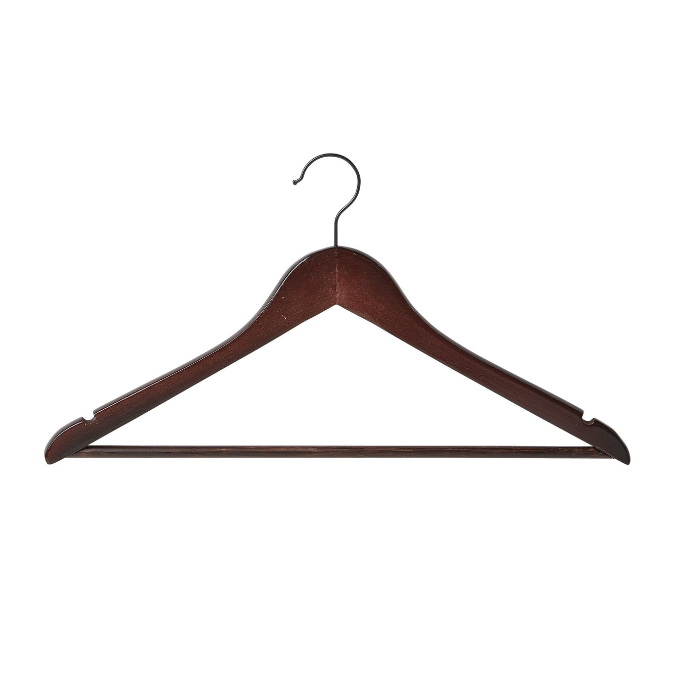 5 Pack Wood Contoured Profile Suit Hanger - Espresso - Style 4095