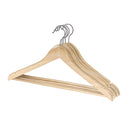 5 Pack Wood Contoured Profile Suit Hanger - Natural - Style 4095