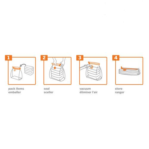 2 Pack Neatbag™ Extra-Large, Double Gusset Vacuum Seal Storage Bags - Style 4421
