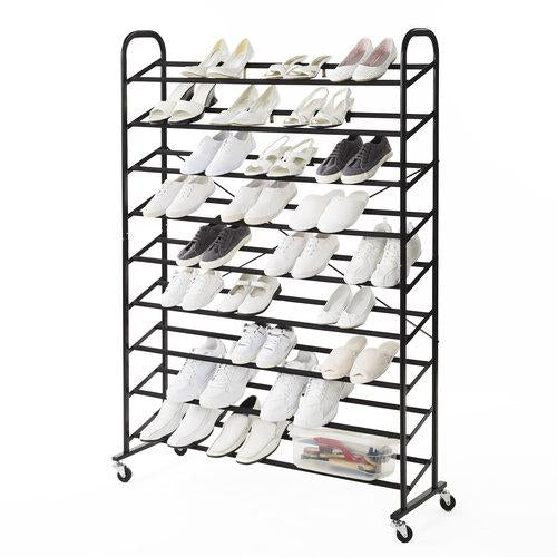 Rolling 9-Tier Mega Shoe Tower - Style 5002