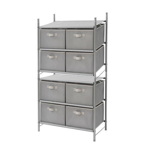 Freestanding Stackable 4-Bin Drawer Organizer - Harmony Twill Collection - Style 5021