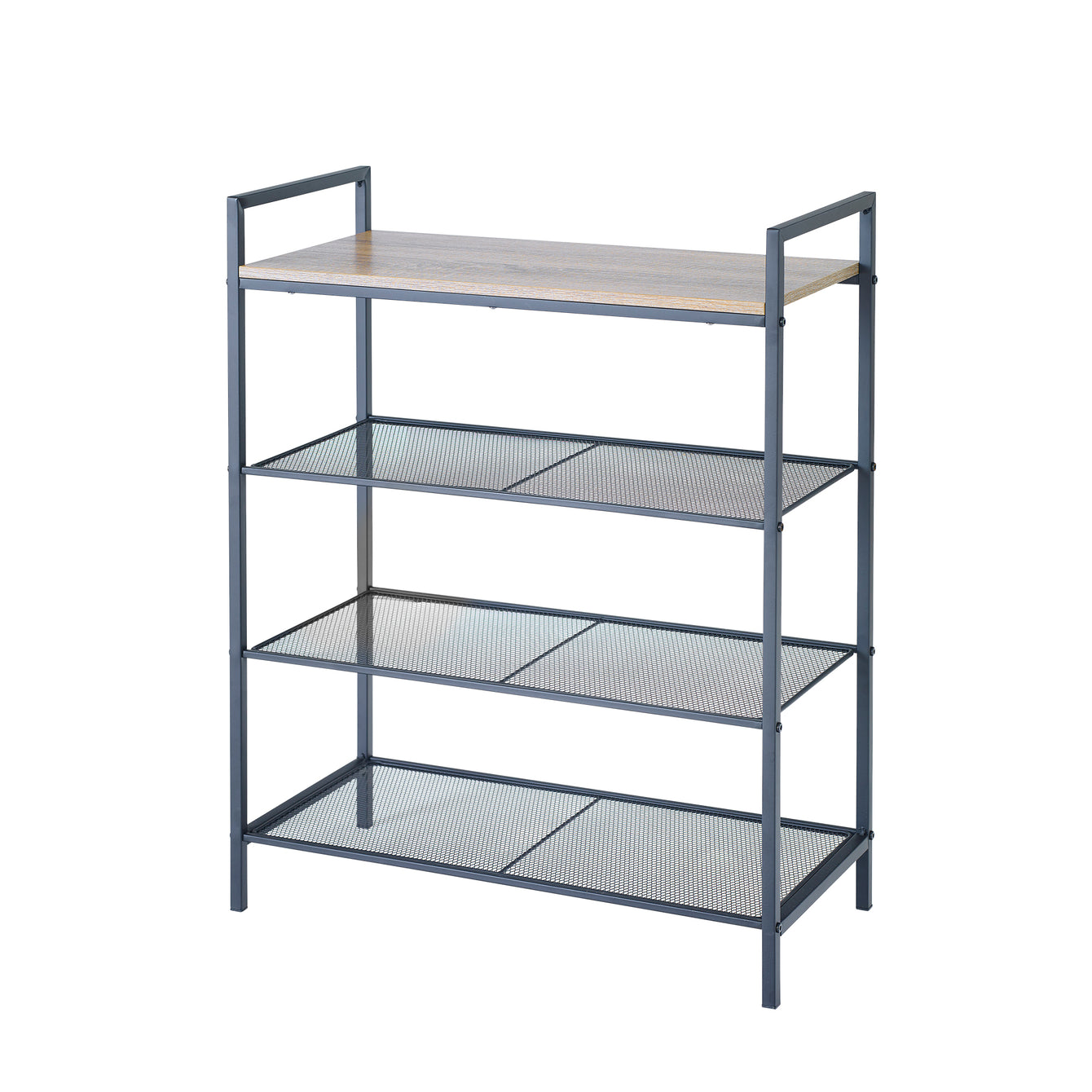 4-Tier Shelf Storage Unit with Wood Top – Style 5051