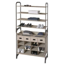 Maximize Stackable16-Cubby Shoe Organizer with 4 Drawers - Style 5122