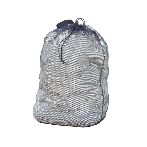 Large Capacity Mesh Laundry Bag with Drawstring - Navy Blue - Style 5202