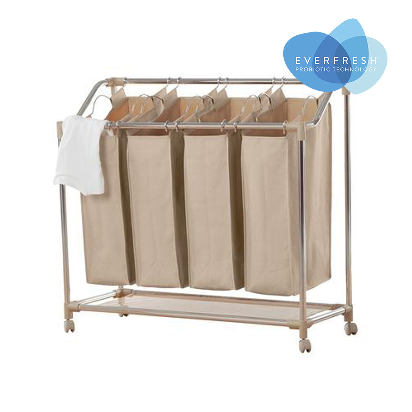 Rolling Quad Laundry Sorter with EVERFRESH® Odor Control - Style 5425