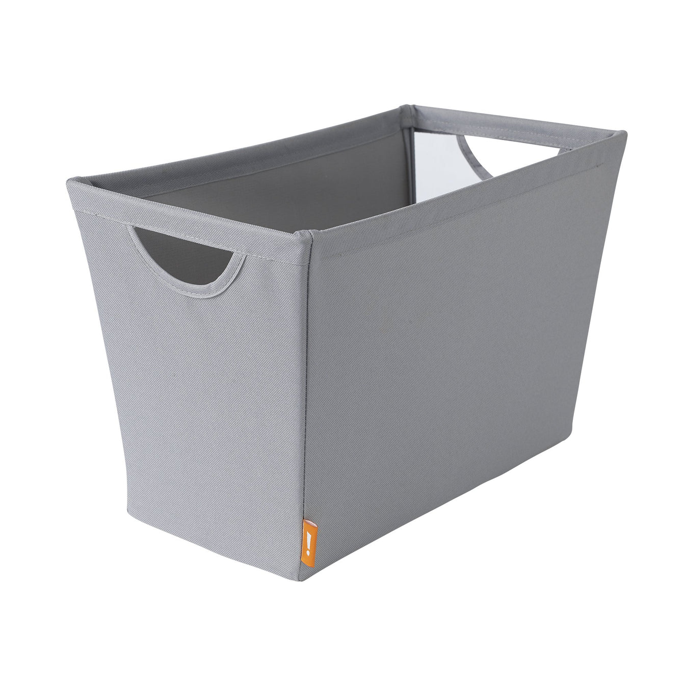 Narrow Wire Frame Fabric Storage Bin with Mesh Front - Style 5426