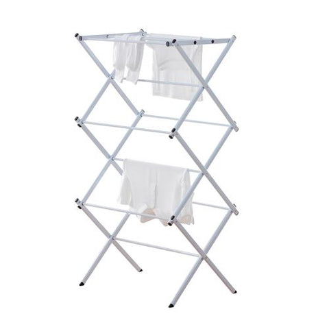 Compact Folding Laundry Drying Rack - Snow White - Style 5529