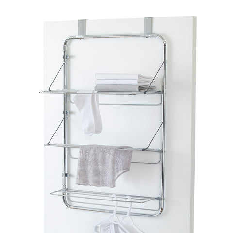 Chrome Over the Door 3-Tier Cascading Drying Rack – Style 5530
