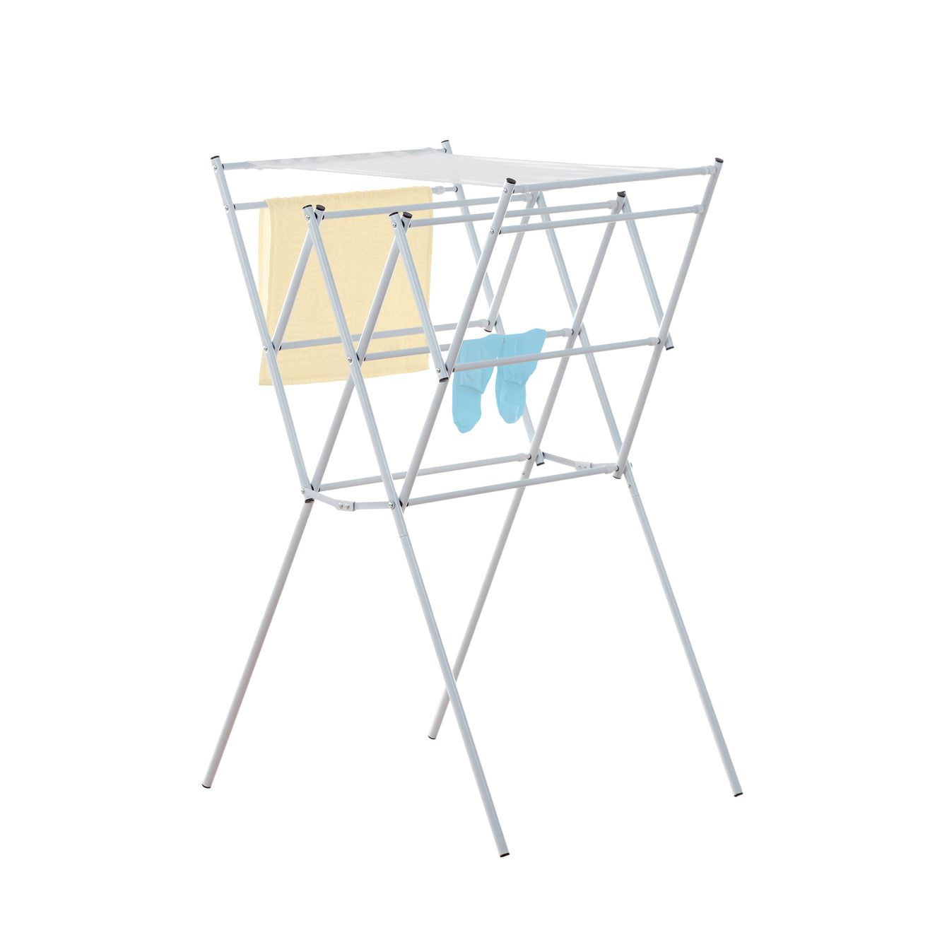 Accordion Style Laundry Drying Rack With Mesh Shelf - Style 5535