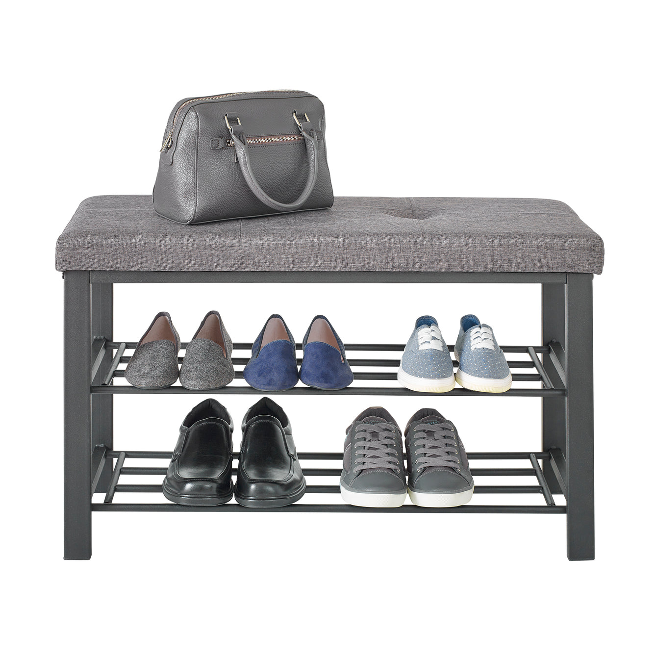 Fabric Upholstered Shoe Storage Bench – Style 5903