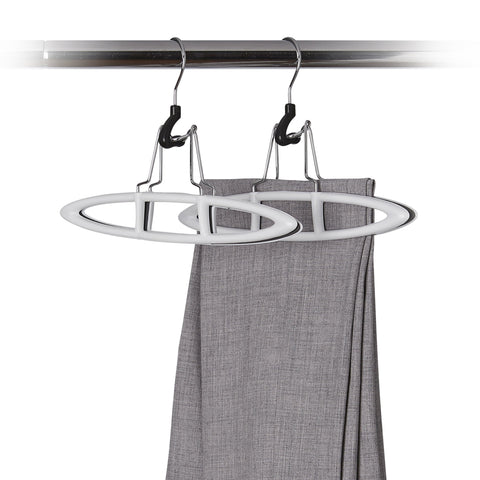 2 Pack Non-Slip Plastic Pant Hanger - Cool Grey - Style 6100