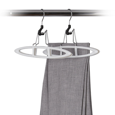 2 Pack Non-Slip Plastic Pant Hanger - Sand Pebble Taupe - Style 6100