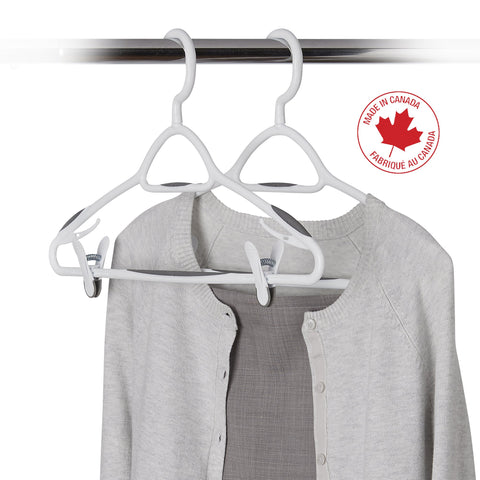 3 Pack Deluxe Swivel, Non-Slip Clothes Hanger with Clips - Style 6200