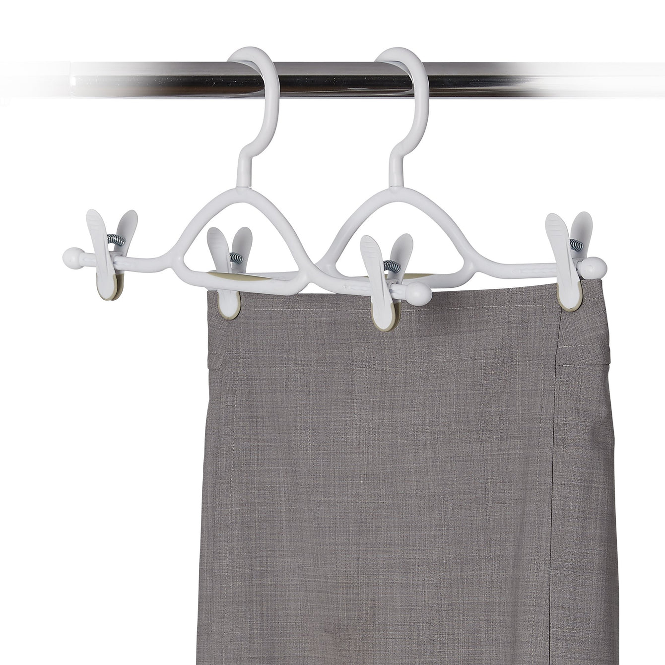 3 Pack Plastic Skirt Hanger with Non-Slip Clips - Style 6400
