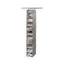 Hanging 10-Shelf Shoe Organizer with Top Shelf - Harmony Twill Collection - Style 7751