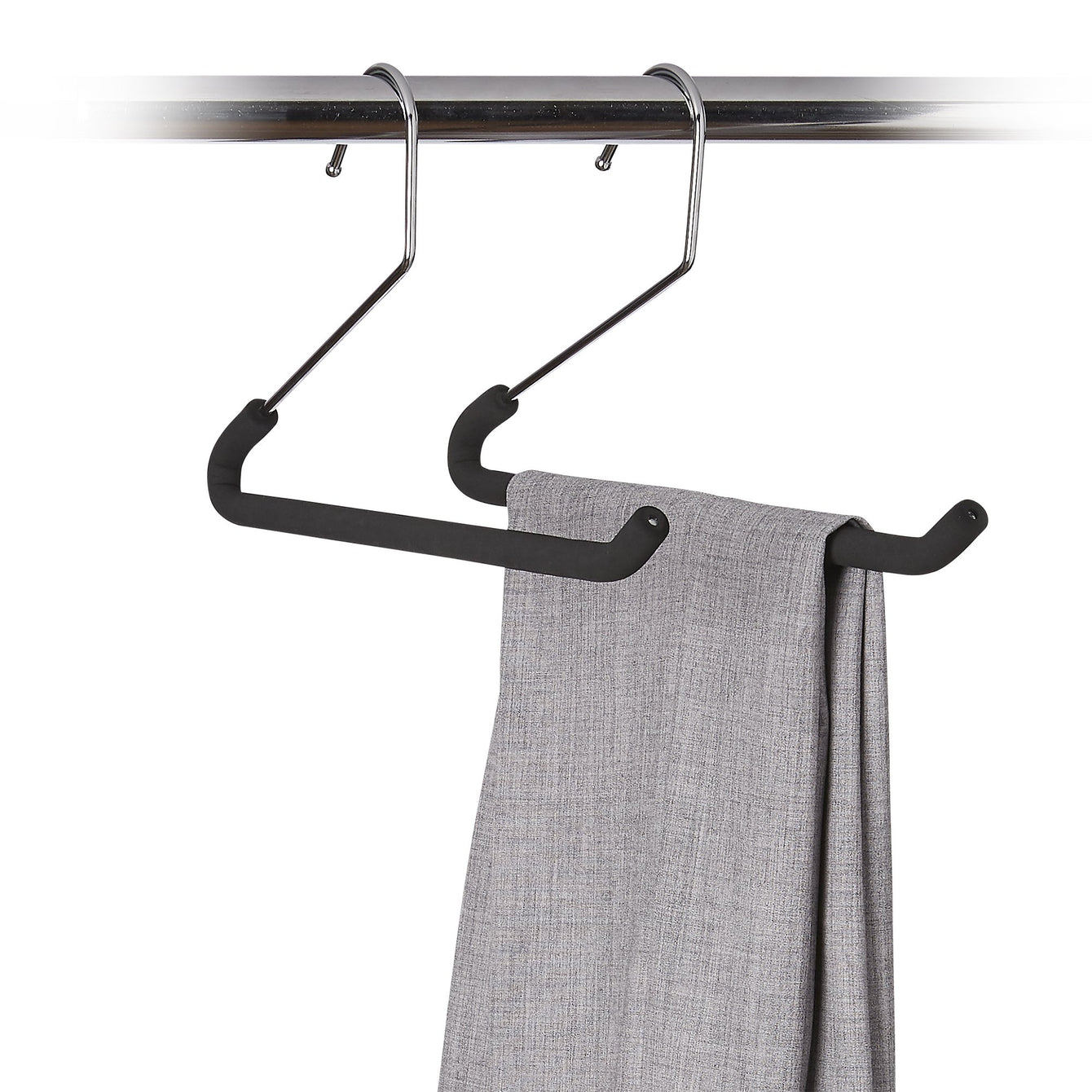 3 Pack Metal Pant Hanger with Non-Slip Foam - Style 8602