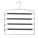 Metal 4-Tier Pant Hanger with Non-Slip Foam - Style 8605