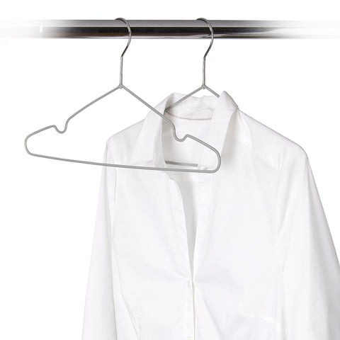 8 Pack Vinyl-Coated Non-Slip Wire Hanger - Style 8609