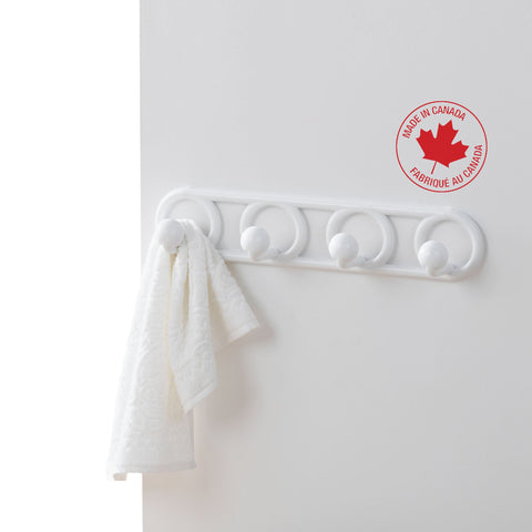 4-Peg Wall-Mounted Heavy-Duty Plastic Hook - Style 0059