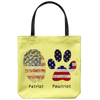 dcb91212a Patriot Pawtriot Veterans and Dogs Veteran Day Gift Tote Bag