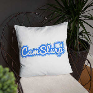 CamSlurp Throw Pillow
