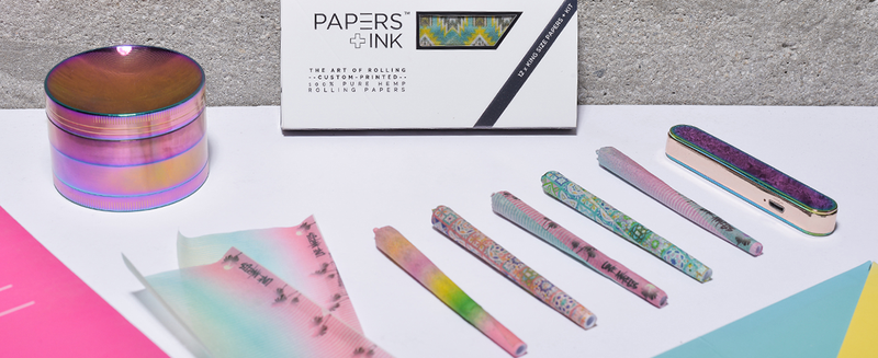 Papers and Ink custom printed rolling papers and high end luxury smoking accessories. 100% pure hemp rolling papers and premium filters create the smoothest coolest and most unique smoking experience.