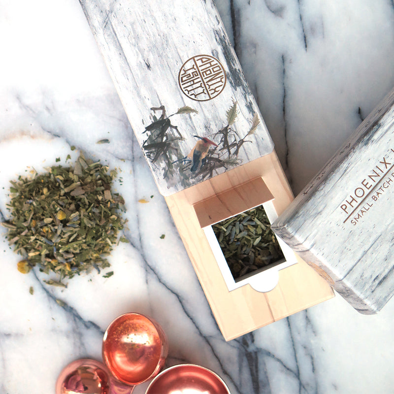 Phoenix Ishii small batch botanicals and herbal smoking blends. Phoenix Ishii blends are natural, organic, additive free, tobacco free without giving up the ritual we love. Meet the most beautiful packaging made with love and care.
