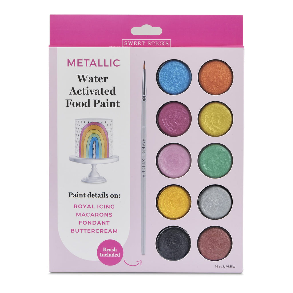Edible Art Metallic Colours Paint Palette by Sweet Sticks