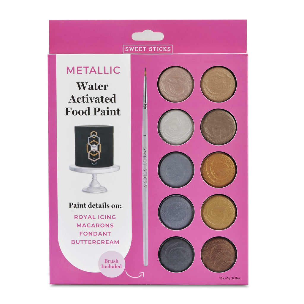 Edible Art Metallic Paint Palette by Sweet Sticks
