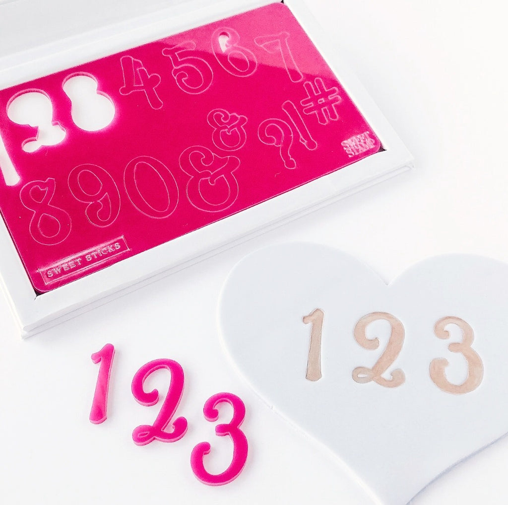 Sweet stamp - SWEETSTICKS NUMBERS