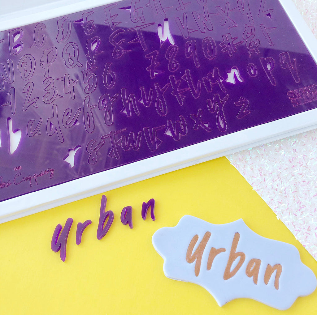 Sweet Stamp - URBAN Set by The Cake Cuppery - Uppercase, Lowercase, Numbers & Symbols