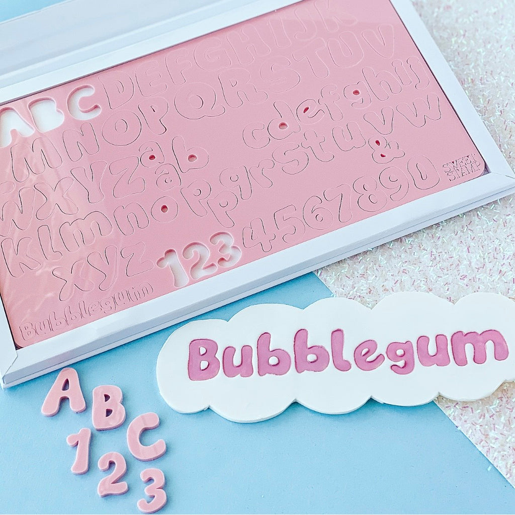 SweetStamp BUBBLEGUM - Uppercase, Lowercase, Numbers & Symbols