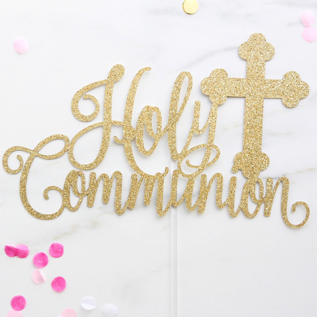 Communion Card Topper - Gold