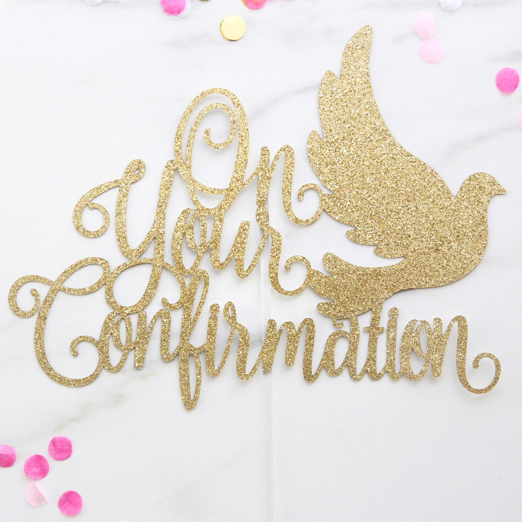 Confirmation Card Topper - Gold