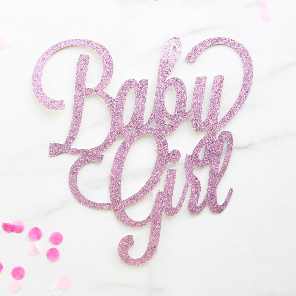 Baby Girl Card Topper - Pink