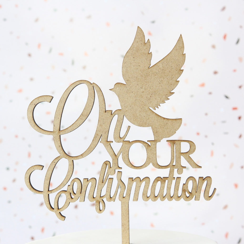 Confirmation Topper - Wood - Medium