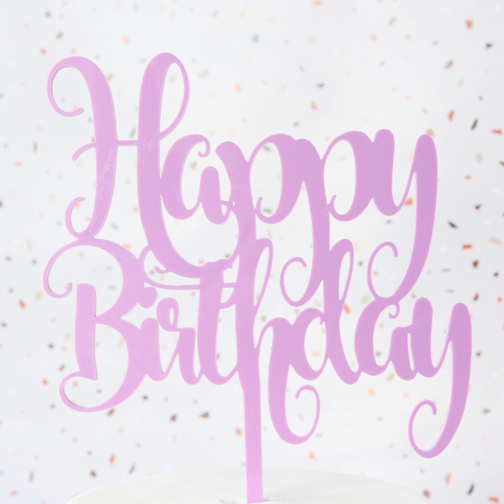 Funky Happy Birthday Topper - Large - Pink
