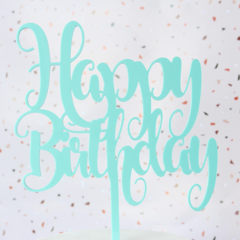 Funky Happy Birthday Topper - Large - Mint