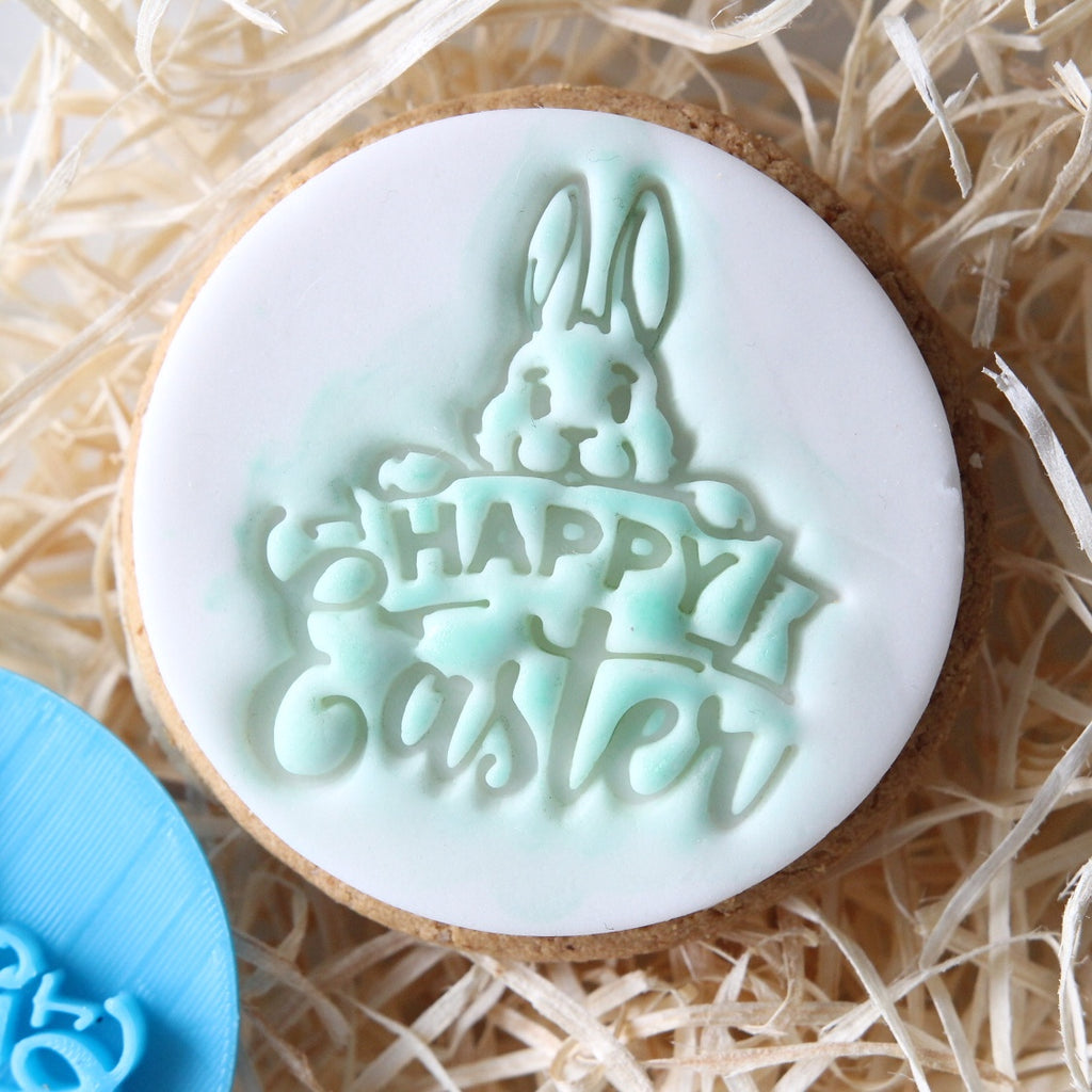 Happy Easter Bunny - Cookie/Cupcake Embosser