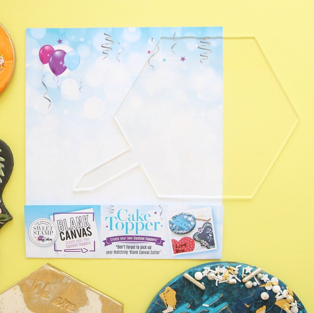 Blank Canvas by SweetStamp - HEXAGON Blank TOPPER
