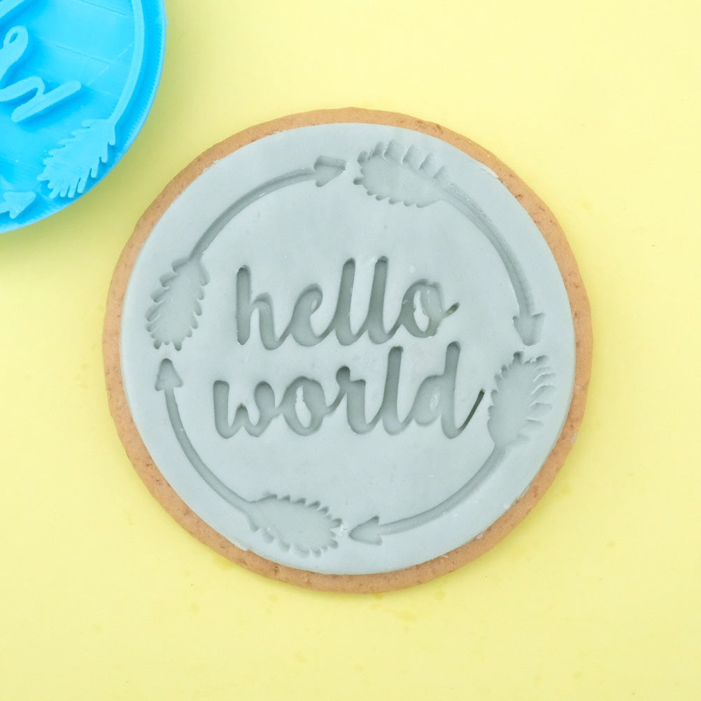 Hello world - Cookie/Cupcake Embosser