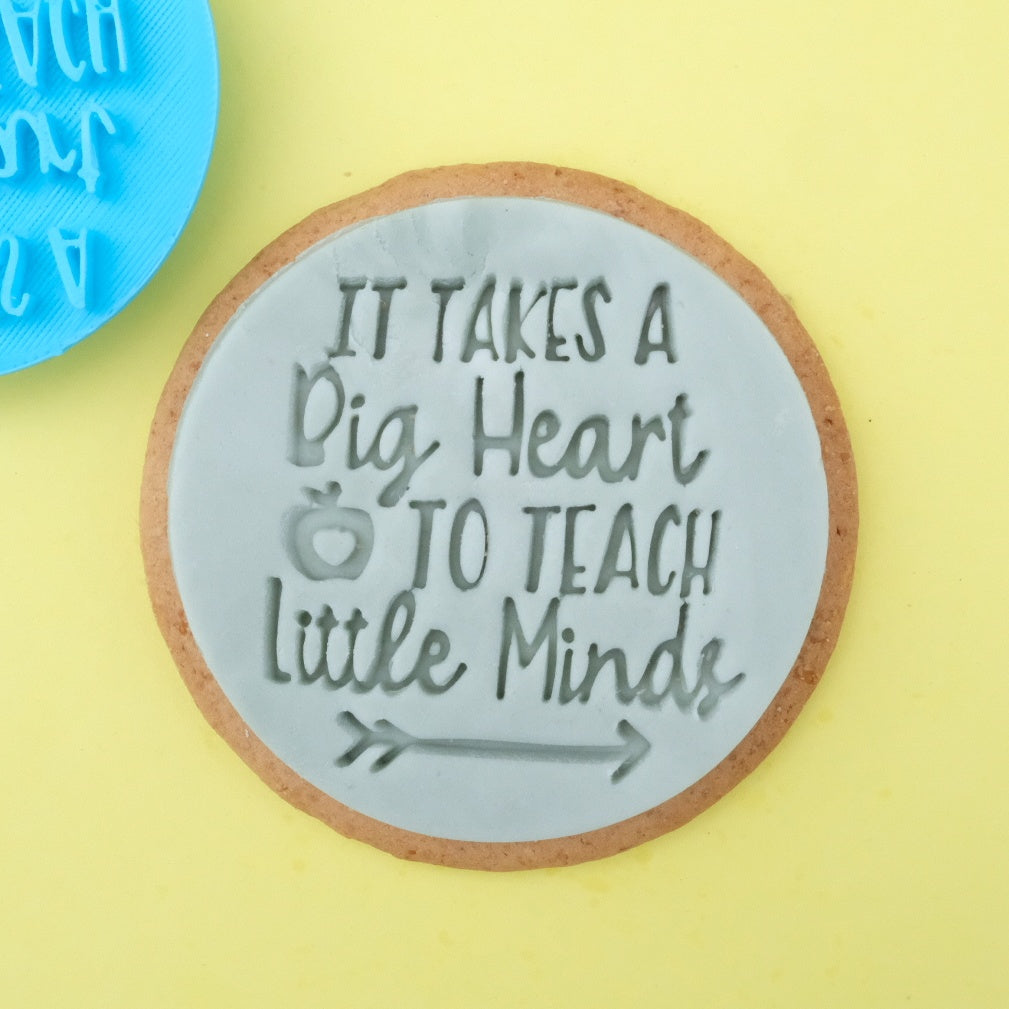 Big Heart little minds - Cookie/Cupcake Embosser