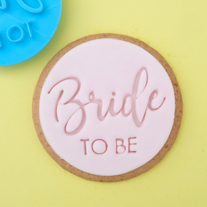 Trendy Bride to be - Cookie/Cupcake Embosser