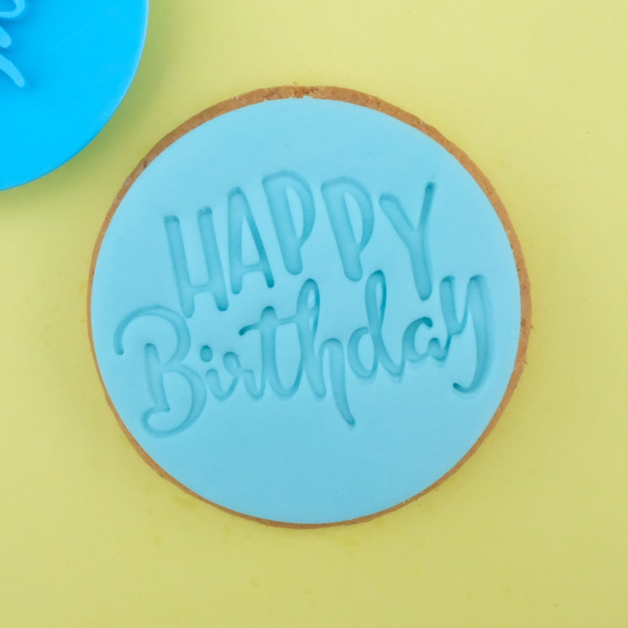 Fun Happy Birthday - Cookie/Cupcake Embosser