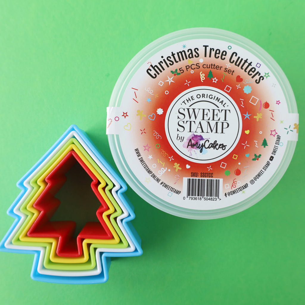 SweetStamp Cutters Set 5pcs - Christmas Tree